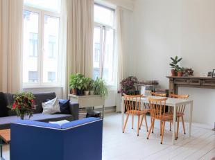 Schitterend licht en ruim 1-slaapkamer appartement te Antwerpen Zuid.<br /> Het appartement is ingeplant in een levendige volksbuurt met tal van winke