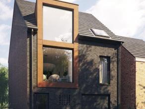 Zeer moderne nog te bouwen ééngezinswoning van 187m² bewoonbare oppervlakte met E peil 50/ K 40 op een zuid gericht perceel in een