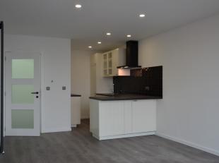 Een in 2018-2019 prachtig vernieuwd appartement (+/-50m²) met alle modern comfort, een terras met mooie uitzichten en 1 ruime slaapkamer, gelegen