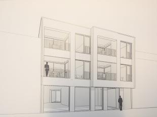 Unieke projectgrond voor nieuwbouwproject of opbrengsteigendom met bijhorende plannen voor 4 appartementen en handelsgelijkvloers op toplocatie in de