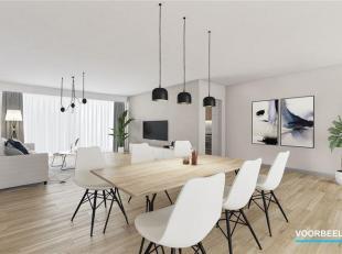 Staat of valt de keuze van uw nieuwe appartement met de woonkamer? Wacht tot u deze leefruimte ziet: 44 m2 groot, lichtrijk door het grote schuifraam