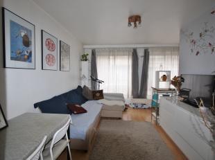 Ideaal gelegen gelijkvloerse studio met apart slaapgedeelte..<br /> <br /> De studio omvat: inkomhal voorzien van vestiairekast: leefruimte, kitchenet