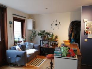 Gelijkvloers appartement, rustig gelegen in een doodlopende straat, vlak aan de Vaartkom. Het appartement omvat een inkomhal, leefruimte met keuken, d
