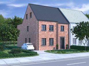 Bouwgrond met nieuwbouwwoning te koop in Sint-Lievens-Houtem. <br /> Deze volledig afgewerkte half-open bebouwing heeft volgende indeling: inkom aan