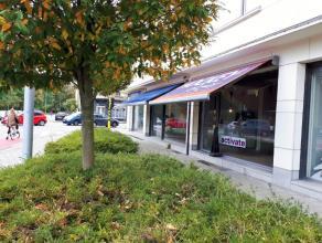 Dit handelspand is gelegen nabij St-Pietersstration en ligt op het kruispunt van 2 passagestraten (Burgravenlaan en Krijgslaan). Zeer brede vitrine, 1