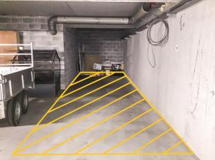 Dubbele ondergrondse autostaanplaats (+-10m diep) gelegen in de residentie Tivoli Gardens (Koerslaan 20-22 te Bredene.