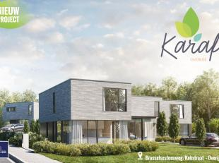 Project KARAF, is een kleinschalig project met een hedendaagse look en intiem karakter. Verelst & Gilen ontwikkelt 1 gesloten en 4 halfopen woning
