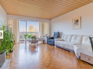 Dit ruim appartement op 't 5de verdiep heeft 2 slaapkamers, een mooie parketvloer en een breed terras. Maar het heeft nog meer troeven: het ligt in ee