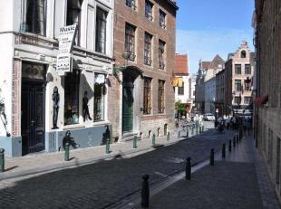 Gebouw met commercieel gelijkvloers te koop, Centrum Brussel. Gelegen aan het druk bezochte manneken-pis. Voorkoop door middel van overname naamloze v