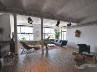 Quartier du Canal, loft à louer de style industriel dune surface de + de 150m² avec cuisine ouverte, salle à manger sépar&ea