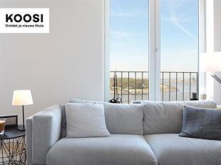 Dit zeer mooie en ruime 3 slaapkamer appartement is gelegen op de 8ste verdieping van residentie Westkaai 71.  Vanop de 8ste verdieping hebt u zowel e