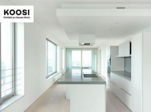 Dit zonnige en uiterst exclusieve appartement van 120m² met 2 ruime terrassen is gelegen op de 7de verdieping van Residentie Westkaai 51 en heeft