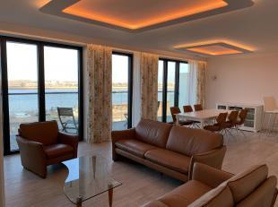 gemeubeld, nieuw, heel luxe, frontaal prachtig Scheldezicht, derde verdieping, 2 terrassen, zonnig, fully furnished, flatscreen, droogkast, wasmachine