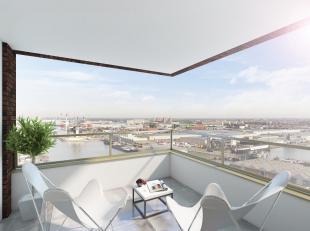 nieuw appartement met 2 slaapkamers, eiken parket, Bulthaup keuken, uniek zicht op het water en de stad. Optioneel inpandige parkeerplaatsen met afsta