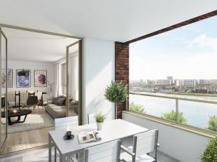 nieuw, prachtig appartement met 2 slaapkamers, groot terrassen zicht op water en de stad, onmiddellijk beschikbaar, recent geschilderd, volledig inger