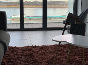 Prachtig uitzicht op de Schelde, nieuw, gemeubeld, geschilderd, fully furnished, wasmachine, droogkast, dressing, vaatwasmachine, tv, grote inloopdouc