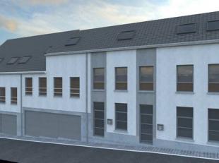"""Maison neuve de type bel-étage, vendue en état de """"gros oeuvre fermé"""" comprenant ; un hall d'entrée, un living, une espace"""