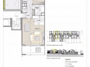 Appartement met 2 slaapkamers en terras, gelegen op de tweede verdieping<br /> Oppervlakte van het appartement : 87m²<br /> Oppervlakte van het t