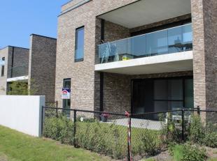 Gelijkvloers appartement met 2 slaapkamers en zuid-gerichte tuin aan de stadsrand van Diest.Dit luxe-appartement is voorzien van een ruim buitenterras