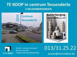 TE KOOP -  kelderbergingen, centrum Tessenderlo!!<br /> <br /> Plaats te kort? zoekt U een goede investering? <br /> Om te verhuren? Om zelf te gebrui