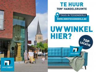 UW WINKEL HIER?<br /> <br /> Handelspand 70m2 op toplocatie, Centrum Tessenderlo.<br /> <br /> + Knappe hoekpand;<br /> + Hoge etalage ramen;<br /> +