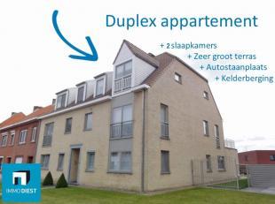 Klassevolle duplex nabij centrum Diest, heeft volgende troeven:<br /> + Bouwjaar 2007;<br /> + 2 Slaapkamers + dressing;<br /> + Ruime leefruimte met