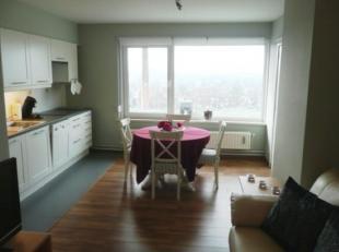 Ideale investering of als eerste stek : Instapklaar gemeubeld appartement op 8e verdieping met uitzicht op de vaart, <br /> gelegen op wandelafstand v