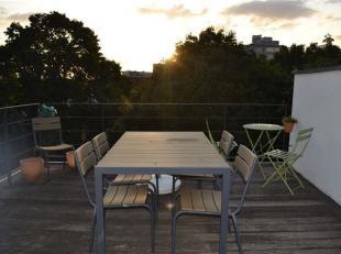 Magnifique appartement duplex entièrement meublé au 3ième étage avec grande terrasse (18m²) orientée SO. Hall