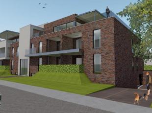 Appartement gelegen op het gelijkvloers aan de voorzijde met een woonoppervlakte van  82 m² en voorzien van living met open keuken, 2 slaapkamers