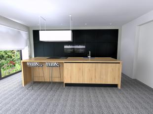 Deze nog te bouwen energiezuinige villa omvat het ventilatiesysteem D, vloerverwarming met condensatieketel op aardgas, zonnepanelen en domotica-insta