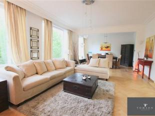MONTGOMERY: Prachtig MEUBLE luxe appartement van ± 120m² inclusief: inkomhal, woon / eetkamer van ± 50m², volledig ingerichte