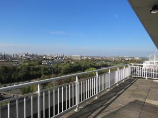 Wonen in hartje Berchem Leuke studio 60 m² op de 13e verdieping met een super aangenaam zonneterras van 20 m². Zeer aangename ruime leefruim