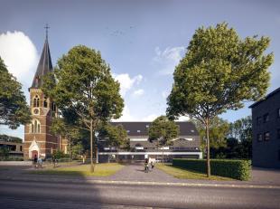 Trendy nieuwbouwappartement Nr. 1.1 -1° verdieping links gelegen aan het volledig vernieuwde kerkplein van Opgrimbie. Bestaande uit: inkomhall, li