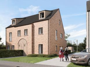 Res. 'GUIDO GEZELLE' aan de Guido Gezellelaan in Heusden: 2 prachtige gebouwen in pastorijstijl met telkens 4 ruime parkappartementen.<br /> <br /> AP