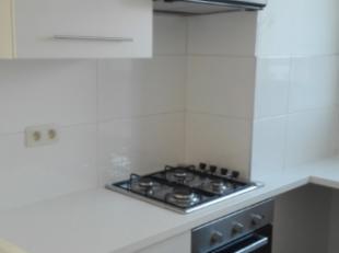 Appartement op de 1st verdieping bestaande uit 2 slaapkamers, woonkamer, badkamer met douche en keuken. Maandelijkse provisiekost van 35 euro voor de