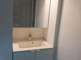 appartement bestaande uit 2 slaapkamers, keuken met ingebouwde toestellen, badkamer met douche, apart toilet, woonkamer en achteraan terras. Alles is