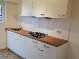 nieuw gerenoveerd appartement op de 3de verdieping bestaande uit 2 slaapkamers, inkomhal, keuken, ruime woonkamer, badkamer met douche en terras. Aans