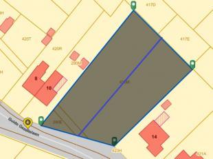 Verkaveling naar 2 bouwgronden (open bebouwing) van ongeveer 12a80ca met een straatbreedte van 18m.<br /> <br /> prijs per stuk 150 000 euro<br />