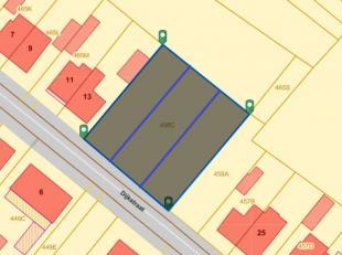 3 bouwgronden in lopende verkaveling, halfopen bebouwingen van ongeveer 4a85ca.<br /> <br /> prijs per stuk 85 000 euro