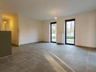 Gelijkvloers nieuwbouwappartement met twee slaapkamers te huur in Project 'De Blekerij'.Rustig gelegen vlak aan de Demer maar toch op wandelafstand va