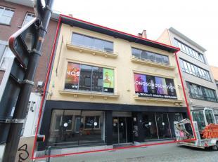 Projectgrond 212m² (na afbraak gebouw) of handelspand 190m² vlakbij het Dusartplein. Met ong. 12 meter facade en vier/5 bouwlaen. Voor het b