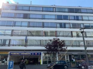 Studio te huur op de 4de verdieping aan de Oudevaartplaats 2-4, 2018 Antwerpen. De studio omvat een Inkomhall, met ingemaakte kasten - Living/Slaaprui