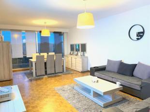 Top appartement op de 8ste verdieping te huur aan de Wouter Haecklaan 15, 2100 Deurne. Dit appartement omvat een Inkom met ingemaakte kasten - Living