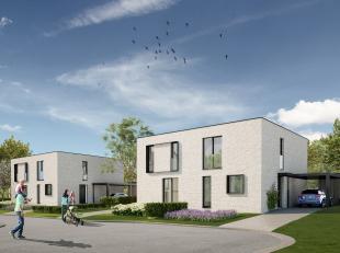 6 Moderne en energiezuinige halfopen tuinwoningen <br /> Res. 'KRYNIS' te Paal-Beringen, Mussenlaan (doodlopend straatje gelegen op de hoek met de Val