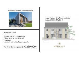 In de nieuwe verkaveling 'Nonnebos' te Ravels bouwen we enkele halfopen bebouwingen. De lokatie ligt in een landelijke en groene omgeving vlakbij Turn