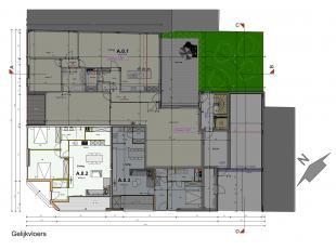 Mooi nieuwbouwappartement gelegen op het gelijkvloers met een bewoonbare oppervlakte van 90 m2.<br /> <br /> Het appartement kan u betreden via de ink