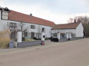 Ruime polyvalente en nostalgische hoeve gelegen in Sluizen (Tongeren). De woning is rustig gelegen aan de rivier de Jeker en bevindt zich op een prach
