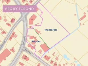 PROJECTGROND<br /> <br /> Mogelijkheid tot het creëren van bouwgronden op 52a10ca. <br /> Het achterliggende gedeelte van 1ha 25a 70ca is weiland