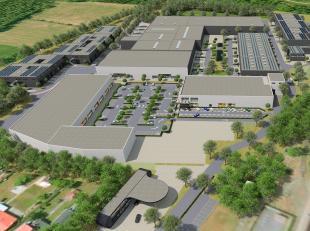 Op bedrijventerrein La Corbeille zijn er KMO-units beschikbaar vanaf een oppervlakte van 170m² tot de gewenste oppervlakte op maat van uw bedrijf