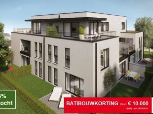 BATIBOUWKORTING t.b.v. € 10.000 (*geldig t.e.m. 31/03/2019)<br /> <br /> 75% VERKOCHT<br /> <br /> Oplevering bouw februari 2019. Residentie Groen